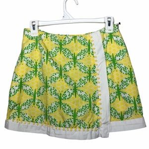 Lilly Pulitzer RARE Yellow & Green Butterfly Skirt